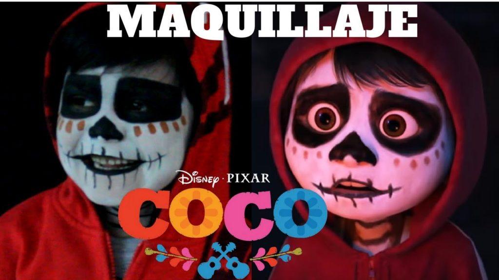 maquillaje de coco pixar